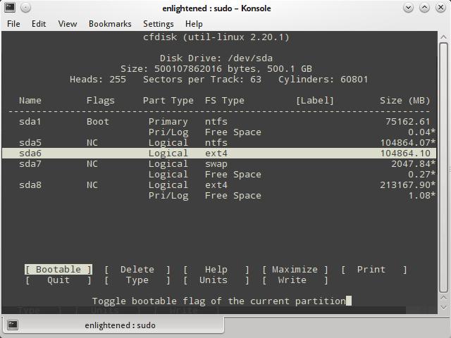 linux-cfdisk